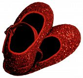 picture of ruby red slippers  - A pair of little girl - JPG