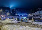 Постер, плакат: Ski Resort In The Evening