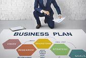 Business Plan Planning Strategy Solution Vision Concept poster