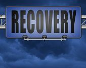 Recovery recover lost data economy recovering 3D, illustration  poster