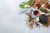 Selection Of Japanese Chinese Herbal Masala Tea Teapot poster