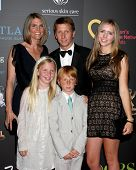 LAS VEGAS - JUN 19:  Brad Bell Family arriving at the  38th Daytime Emmy Awards at Hilton Hotel & Ca