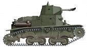 image of flamethrower  - computer illustration of italian ww2 flamethrower tank prototype - JPG