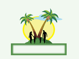 image of family vacations  - Edit blank space for family tourist destination - JPG