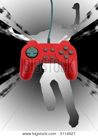 poster of Game Controller W Clipping Path
