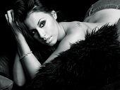 picture of beautiful brunette woman  - Beautiful  - JPG