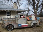 pic of truck farm  - Texas farm house with old pick - JPG
