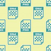 Green Png File Document Icon. Download Png Button Icon Isolated Seamless Pattern On Yellow Backgroun poster