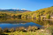 Moncayo peak. With an altitude of 2314 meters is the highest peak in the province of Zaragoza, Parqu poster