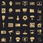 Multimedia Icons Set. Simple Style Of 36 Multimedia Icons For Web For Any Design poster