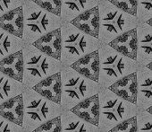 Black And White Triangular Allover Seamless Pattern. Hand Drawn Watercolor Ornament. Alluring Repeat poster