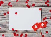 Swiss Independence Day, August 1. Federal Holiday In Honor Of The Founding Of The Swiss Confederatio poster