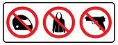 No Full Face Sign,no Jacket Icon And No Weapon,no Gun Symbol.no Full Face Sign,no Jacket Icon And No poster