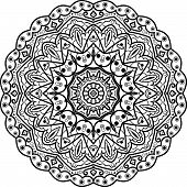 Flower Mandala. Vintage Decorative Elements. Oriental Pattern, Vector Illustration. Islam, Arabic, I poster