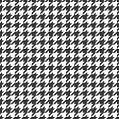Hounds Tooths Pattern. Black And White Houndstooth Seamless Pattern Or Pied-de-poule In French Vecto poster