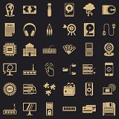 Web Extension Icons Set. Simple Style Of 36 Web Extension Icons For Web For Any Design poster