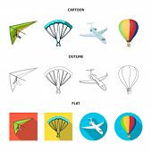 Isolated Object Of Transport And Object Sign. Collection Of Transport And Gliding Vector Icon For St poster