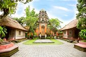 stock photo of saraswati  - Inside the Ubud palace - JPG