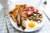 Traditional English Cooked Breakfast poster