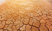 Brown dry cracked ground texture background. Concept of changing climate and global warming, poster