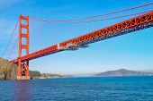 View Of The Golden Gate Bridge From The Boat . San Francisco, California, Usa. poster