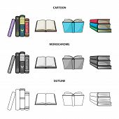 Vector Illustration Of Library And Textbook Symbol. Collection Of Library And School Stock Symbol Fo poster