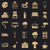 Pencilling Icons Set. Simple Set Of 25 Pencilling Icons For Web For Any Design poster