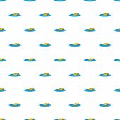 Sinking Car Pattern Seamless Repeat For Any Web Design poster