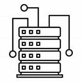 Ai Server Rack Icon. Outline Ai Server Rack Vector Icon For Web Design Isolated On White Background poster