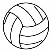 Volleyball Ball Icon. Outline Volleyball Ball Vector Icon For Web Design Isolated On White Backgroun poster