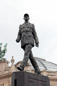 image of charles de gaulle  - Statue of Charles de Gaulle designed by Jean Cardot next to the Grand Palais in Paris France - JPG