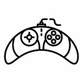 Video Game Controller Icon. Outline Video Game Controller Icon For Web Design Isolated On White Back poster
