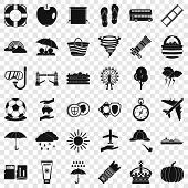 Bad Weather Icons Set. Simple Style Of 36 Bad Weather Icons For Web For Any Design poster