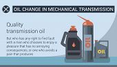 Oil Change In Mechanical Transmission. Types Engine. Service Station. Auto Service. Gray Background  poster
