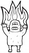 picture of ogre  - scary ogre on fire cartoon - JPG