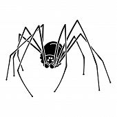 Scary Dream Spider Icon. Simple Illustration Of Scary Dream Spider Vector Icon For Web Design Isolat poster