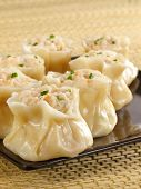 image of siomai  - Steamed shrimp siu mai for dim sum - JPG