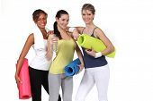 picture of moral  - Woman with gym mats - JPG