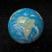 Постер, плакат: Южная Америка на земле 3D визуализация