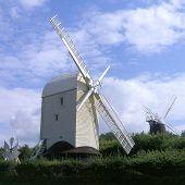 Jack And Jill Windmills At Clayton Near Brighton. England poster