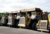 image of dumper  - Heavy Duty Dumper To Carry Coal In Open Cast Coal Mines - JPG