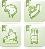 pic of luge  - 4 icons  - JPG