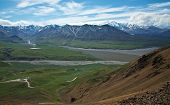 picture of denali national park  - View from the hills above Eielson Visitor Center in Denali National Park - JPG