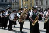 ZAGREB,CROATIA - JULY 19: Members of Music Society Sacilia from Schemmerberg in German national cost