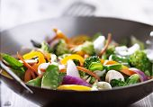 pic of chinese wok  - vegetarian wok stir fry - JPG