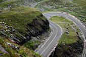 stock photo of twisty  - A twisty road up in the Romanian Carpathian mountains called  - JPG