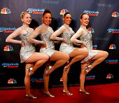 NEW YORK-SEP 18: The Rockettes at the post-show red carpet of
