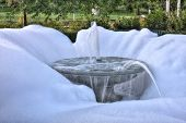 foto of suds  - Water Fountain creating suds in High Dynamic Range - JPG