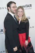 NEW YORK-FEB 5: Marc Mezvinsky and Chelsea Clinton attend the 2014 amfAR New York Gala at Cipriani W
