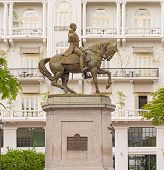 stock photo of tomas  - Statue of General Tomas Herrera Historical Old Town Panama City